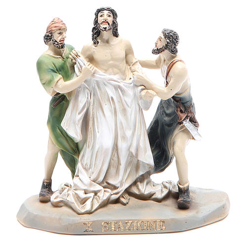 Way of the Cross, 14 stations in resin, 8-10 cm 10