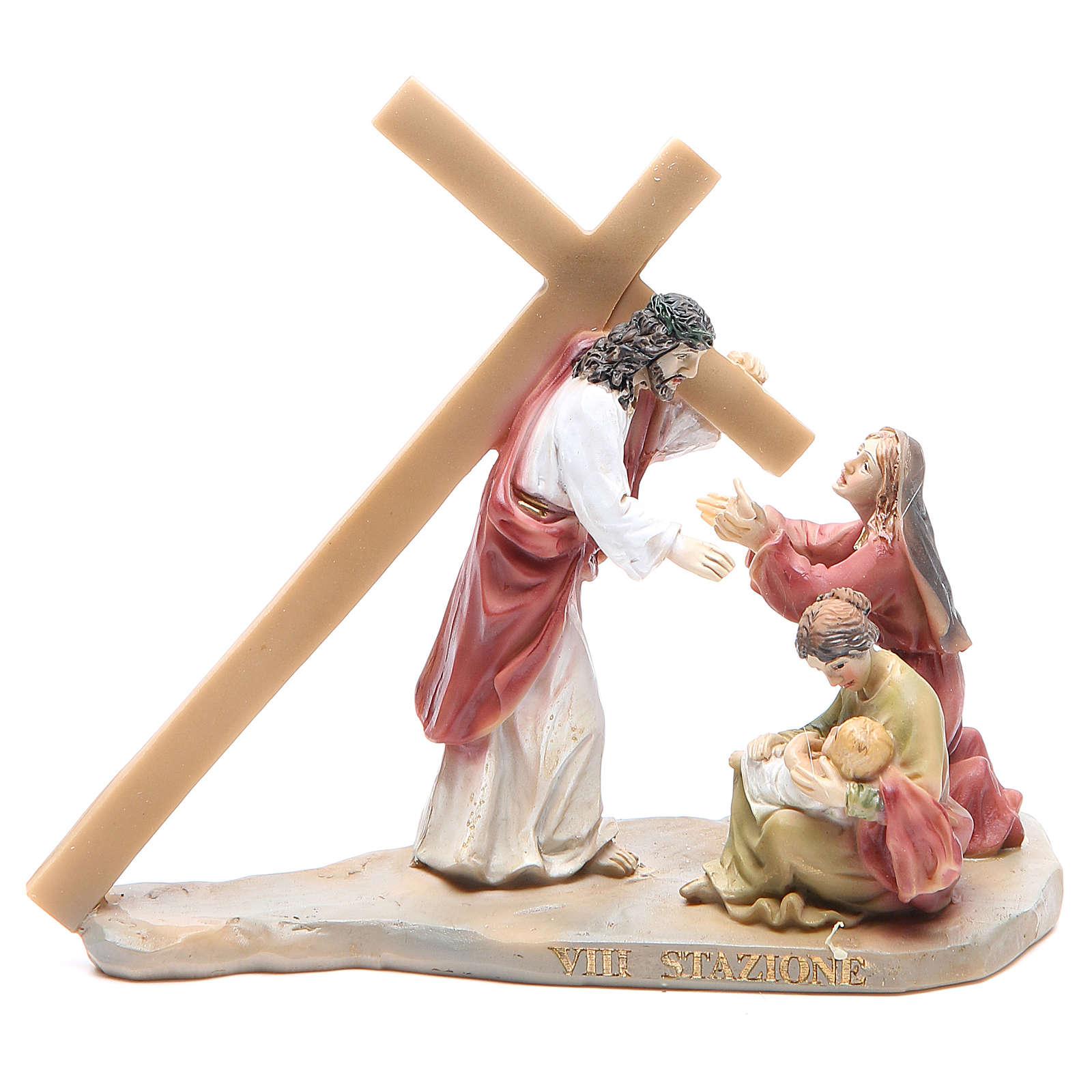 Vía Crucis 14 estaciones resina 8-10 cm 4
