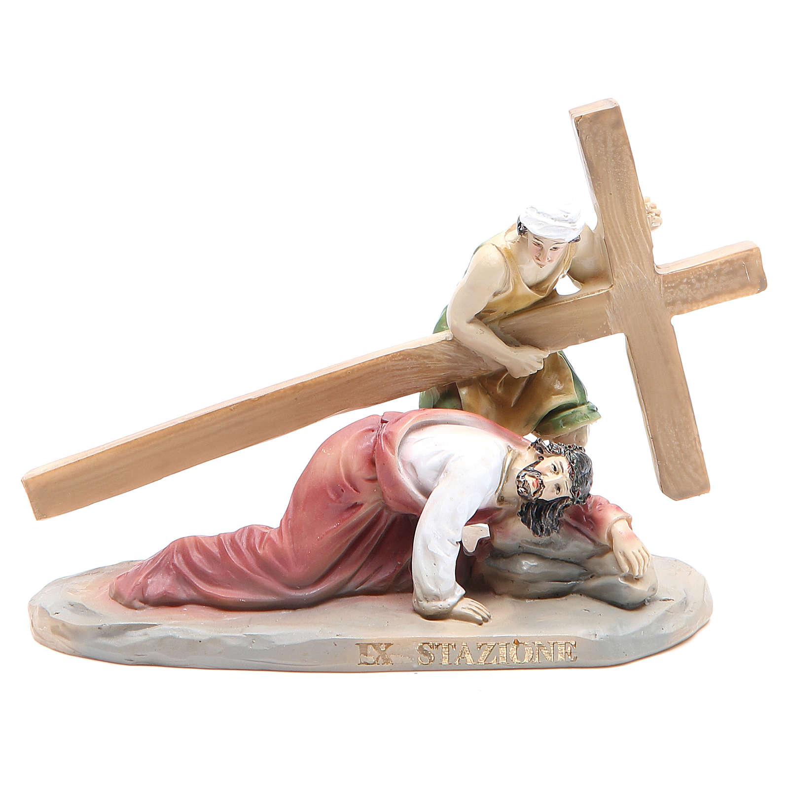 Chemin de croix 14 scènes en résine h 8-10 cm 4