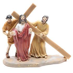 Chemin de croix 14 scènes en résine h 8-10 cm s2