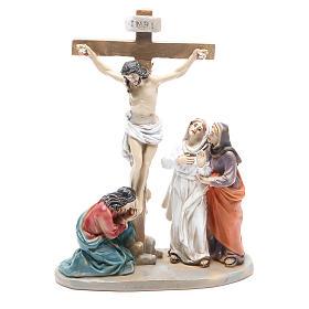 Chemin de croix 14 scènes en résine h 8-10 cm s12