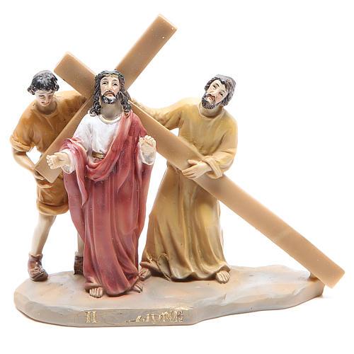 Chemin de croix 14 scènes en résine h 8-10 cm 2