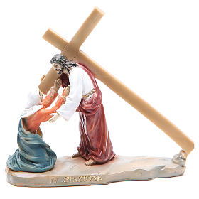 Way of the Cross, 14 stations in resin, 8-10 cm s4
