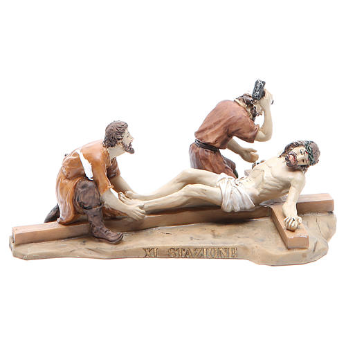 Way of the Cross, 14 stations in resin, 8-10 cm 11