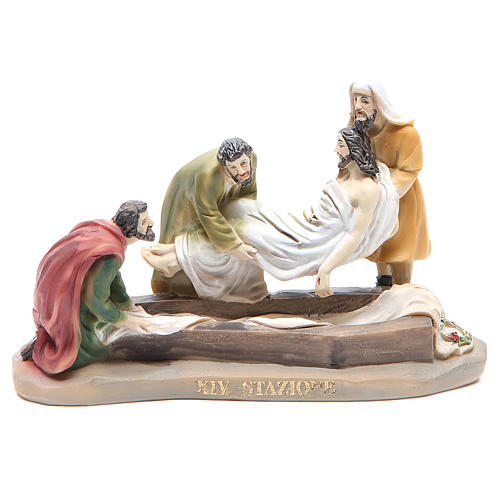 Way of the Cross, 14 stations in resin, 8-10 cm 14