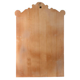 Vía Cruz 15 estaciones relieve madera pintada s17