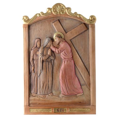 Vía Cruz 15 estaciones relieve madera pintada 8