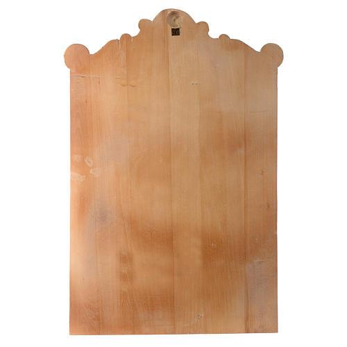 Vía Cruz 15 estaciones relieve madera pintada 17