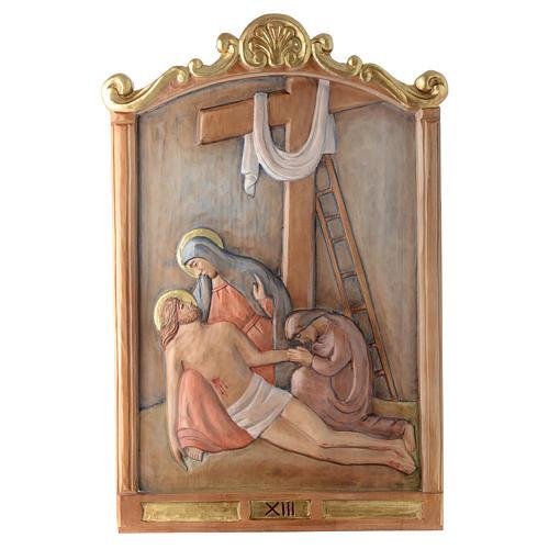 Via Crucis 15 Stazioni in rilievo legno colorato 13