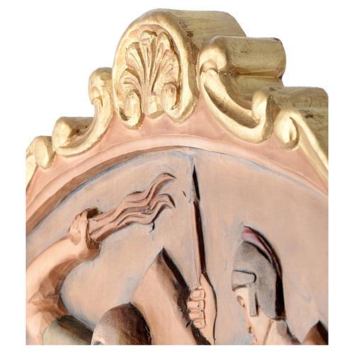 Via Crucis 15 Stazioni in rilievo legno colorato 16