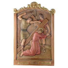 Stations of the Cross wooden relief, painted s3