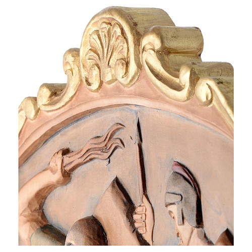 Stations of the Cross wooden relief, painted 16