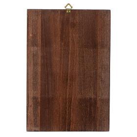 Via crucis paintings serigraphed in wood 30x20 cm s17
