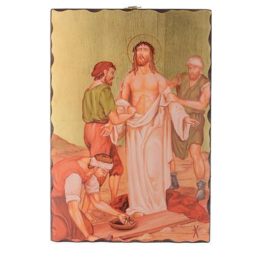 Via crucis paintings serigraphed in wood 30x20 cm 10