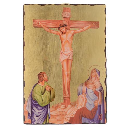 Via crucis paintings serigraphed in wood 30x20 cm 12