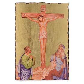 Via Crucis quadretti serigrafati 30x20 cm legno s12
