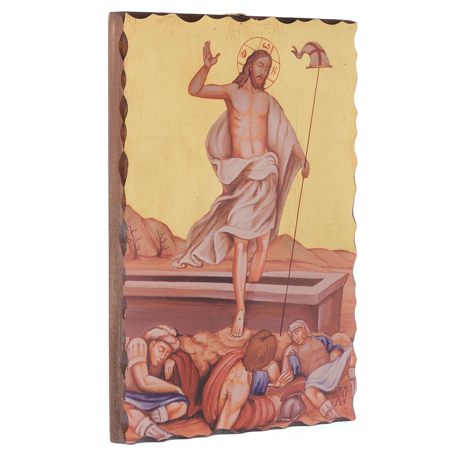 Droga Krzyżowa obrazy serigrafowane 30x20 cm drewno 4