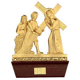 Vía Crucis 14 estaciones latón fundido 22x15 cm s2