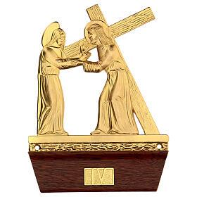 Vía Crucis 14 estaciones latón fundido 22x15 cm s4