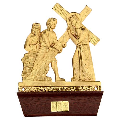 Vía Crucis 14 estaciones latón fundido 22x15 cm 2