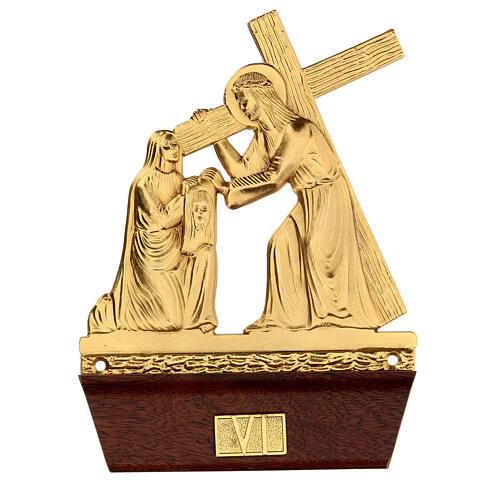 Vía Crucis 14 estaciones latón fundido 22x15 cm 6
