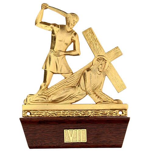 Vía Crucis 14 estaciones latón fundido 22x15 cm 7