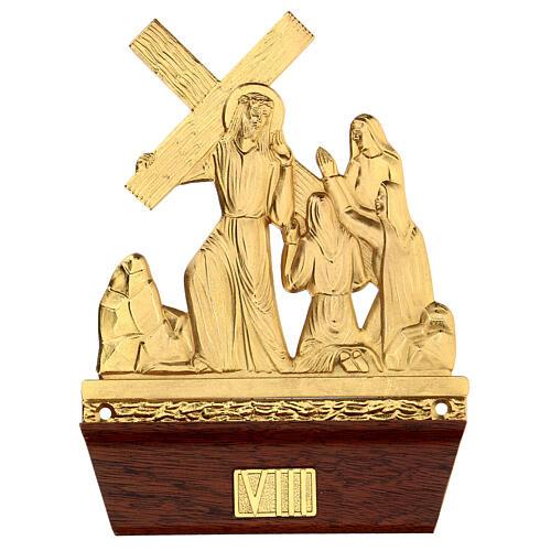 Vía Crucis 14 estaciones latón fundido 22x15 cm 8