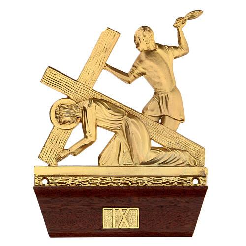 Vía Crucis 14 estaciones latón fundido 22x15 cm 9
