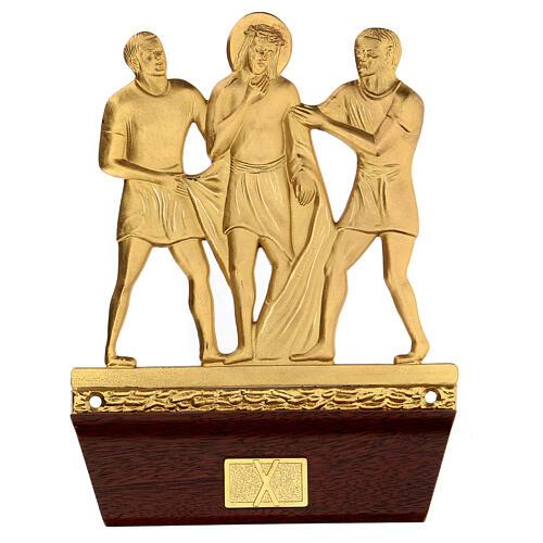 Vía Crucis 14 estaciones latón fundido 22x15 cm 10