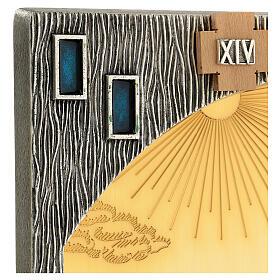 Vía crucis 14 estaciones bicolores latón fundido 30x20 cm s17