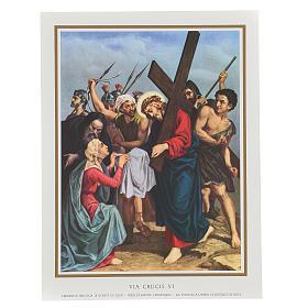Via Crucis 14 estaciones impreso sobre madera 30x20 cm s6