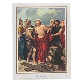 Via Crucis 14 estaciones impreso sobre madera 30x20 cm s10