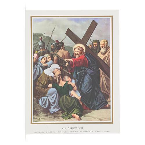 Via Crucis 14 estaciones impreso sobre madera 30x20 cm 8