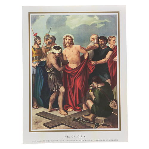 Via Crucis 14 estaciones impreso sobre madera 30x20 cm 10