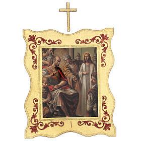 Via crucis 15 stazioni bordo corniciato stampa legno 40x30 cm s1