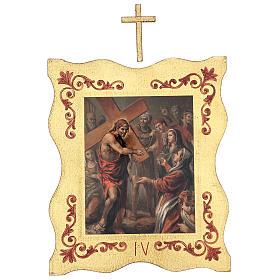 Via crucis 15 stazioni bordo corniciato stampa legno 40x30 cm s4