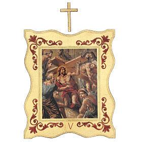 Via crucis 15 stazioni bordo corniciato stampa legno 40x30 cm s5