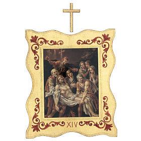 Via crucis 15 stazioni bordo corniciato stampa legno 40x30 cm s14