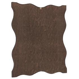 Via crucis 15 stazioni bordo corniciato stampa legno 40x30 cm s16