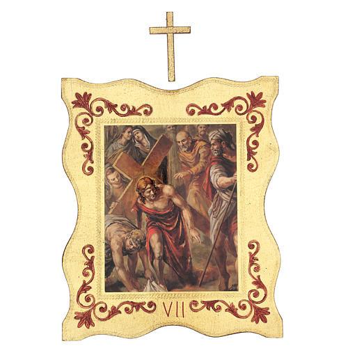 Via crucis 15 stazioni bordo corniciato stampa legno 40x30 cm 7