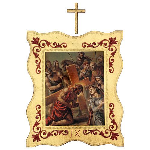 Via crucis 15 stazioni bordo corniciato stampa legno 40x30 cm 9