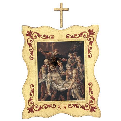 Via crucis 15 stazioni bordo corniciato stampa legno 40x30 cm 14