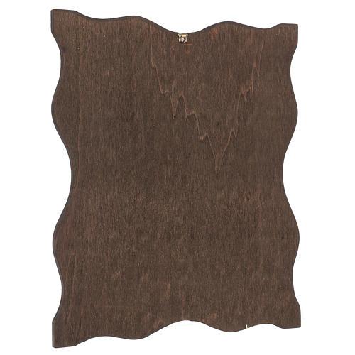 Via crucis 15 stazioni bordo corniciato stampa legno 40x30 cm 16