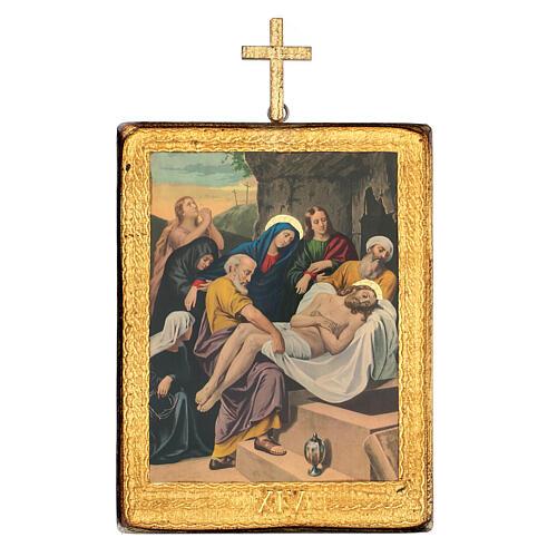 Via Crucis estaciones madera impreso 30x25 cm 14