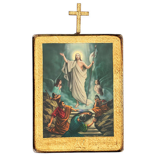 Via Crucis estaciones madera impreso 30x25 cm 15