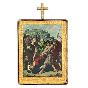Via crucis 15 stazioni legno stampa 30x25 cm s9