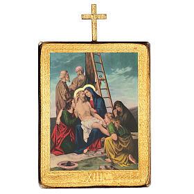 Via crucis 15 stazioni legno stampa 30x25 cm s13