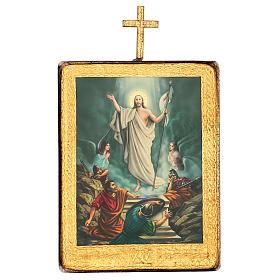 Via crucis 15 stazioni legno stampa 30x25 cm s15