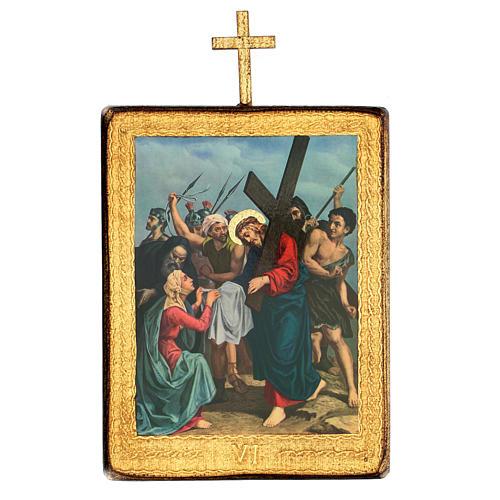 Via crucis 15 stazioni legno stampa 30x25 cm 6