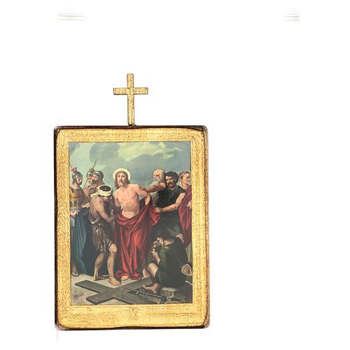 Via crucis 15 stazioni legno stampa 30x25 cm 10